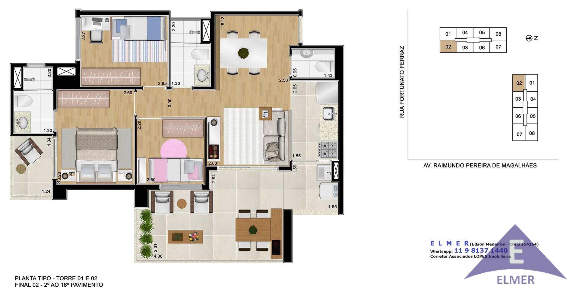 Planta 79 m² - Elmer