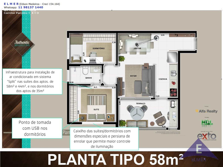 Planta 58 m² - E