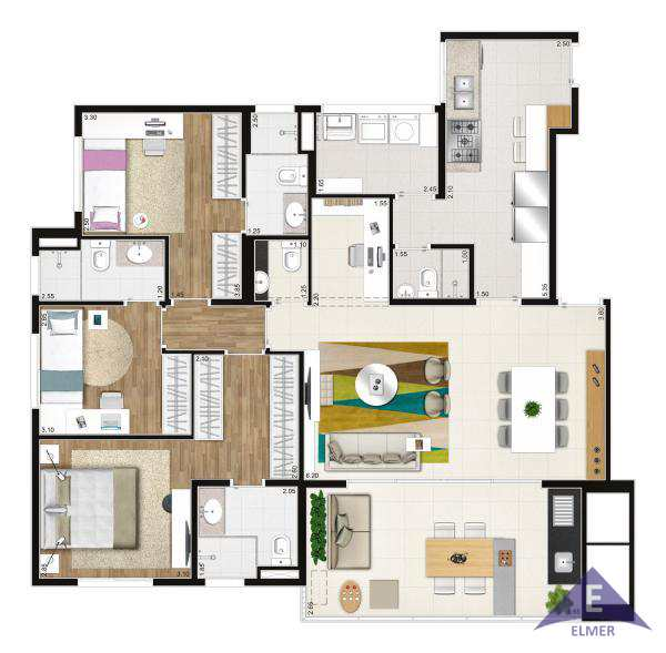 MARK - Planta 118 m²