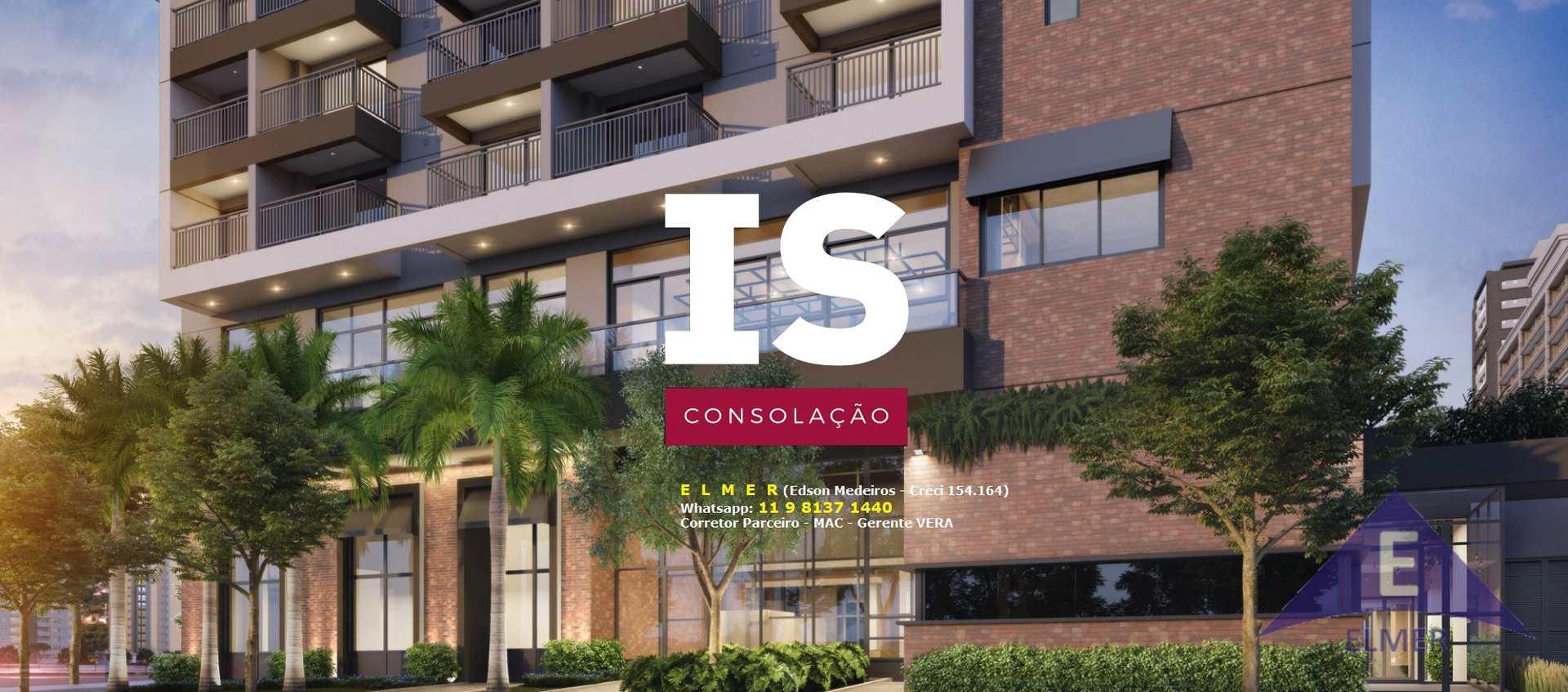 IS CONSOLAÇÃO - SP Studios de 26 e 37 m² - Aptos de 44 m² - Próximo da Estação Higienópolis do Metrô e da Universidade Mackenzie - Investimento ou Moradia