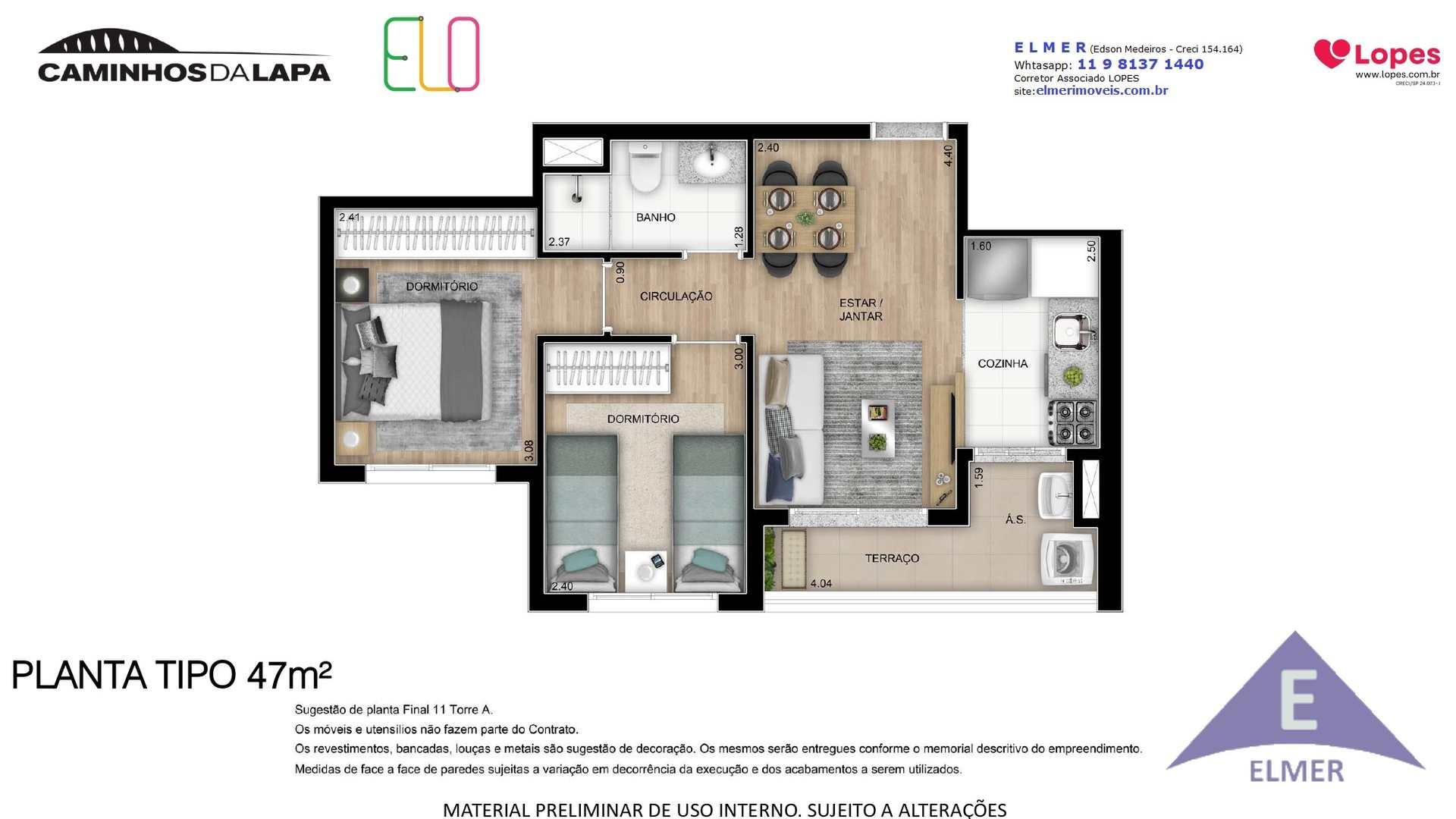 ELO - Planta 47 m²- Elmer