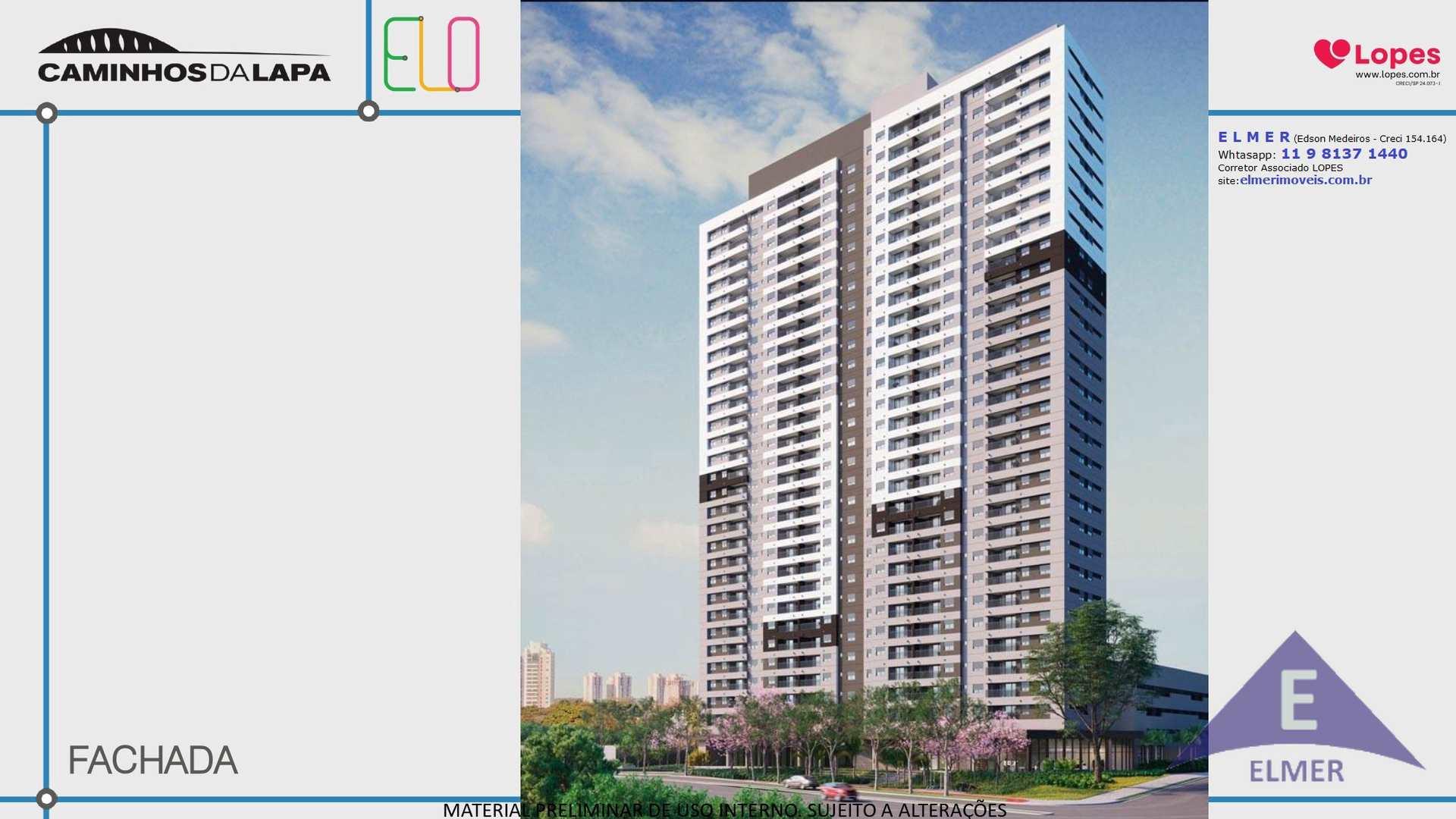 ELO CAMINHOS DA LAPA - APTOS DE 47 m² - 55 m² e 67 m² - 1 a 3 dormitórios com suíte - 1 e 2 vagas - lazer entregue equipado e decorado - oportunidade