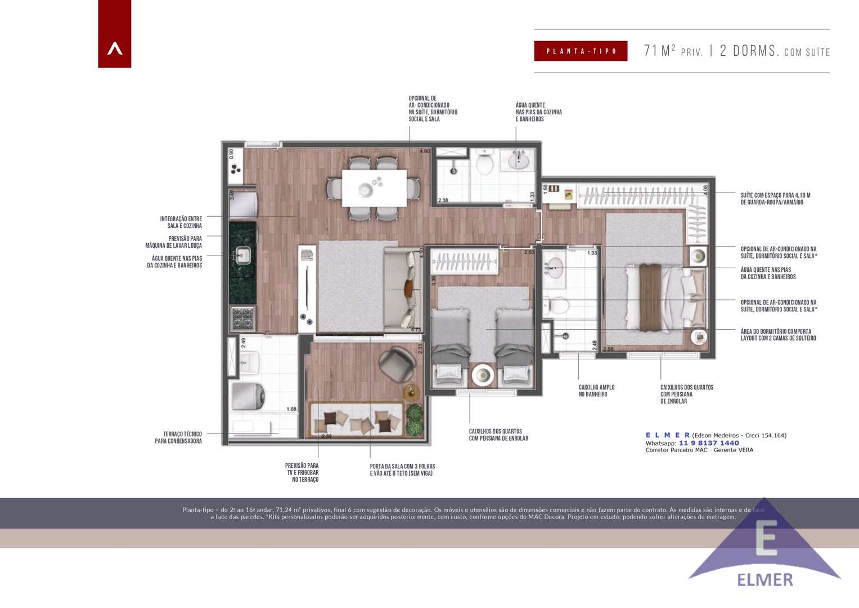 Planta tipoo 71m² - ELMER - Lounge71