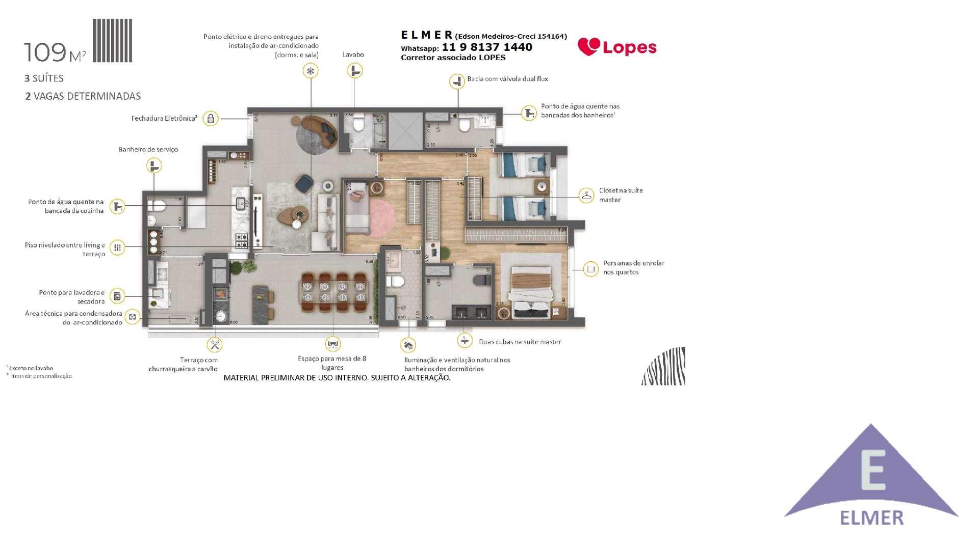 13 - Planta 3 suites diferenciais - Haus Mitr...