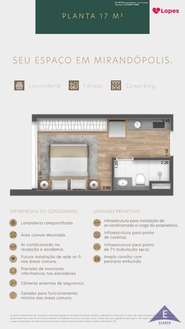 Planta 17 m² - Florear Studios - Elmer