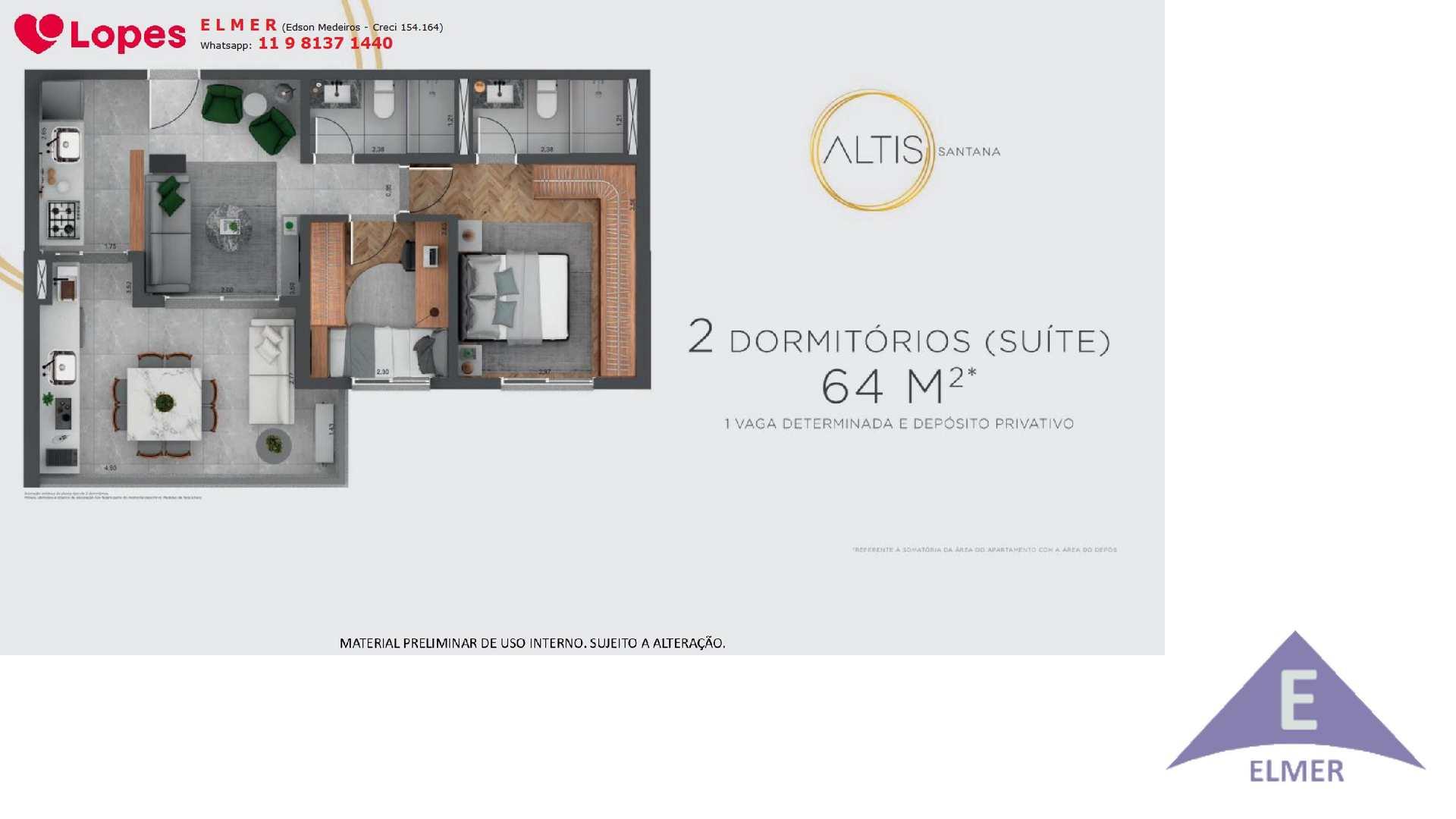 Planta 64m² - ALTIS SANTANA - Elmer