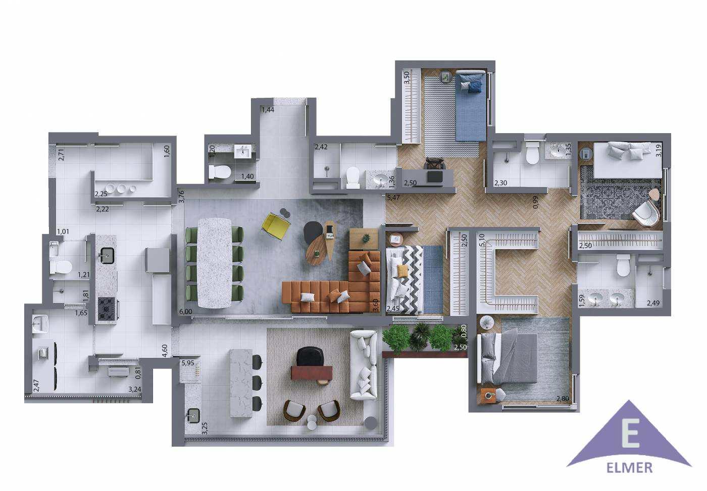 ESSENCIA - Planta Tipo 150 m²