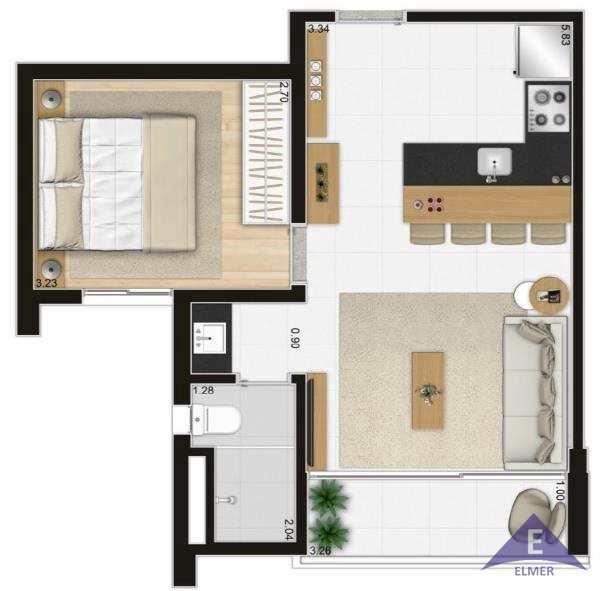 DHOUSE - Planta 40 m2
