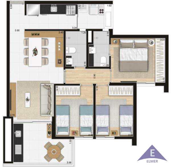 Apartamento com 3 dorms, Perdizes, São Paulo, Cod: 183