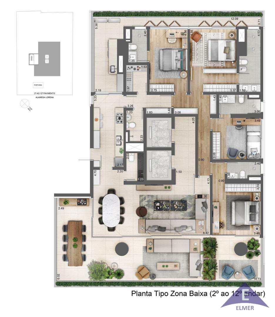 Apartamento com 4 dorms, Jardim Paulista, São Paulo, Cod: 205