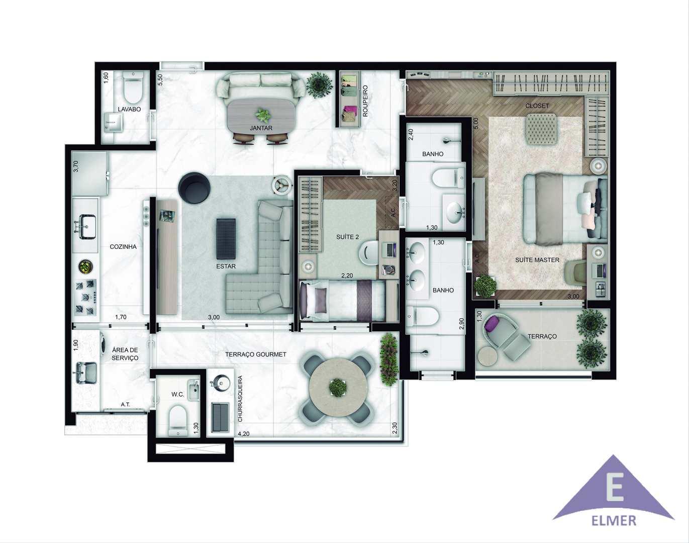LE RÊVE City Lapa - Aptos 92 m² - LANÇAMENTO DE SUCESSSO