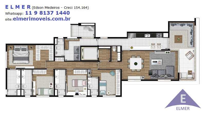 CHEZ PERDIZES, SP, Apto. 180 m² - 4 suítes - 3 vagas - Cod: 300