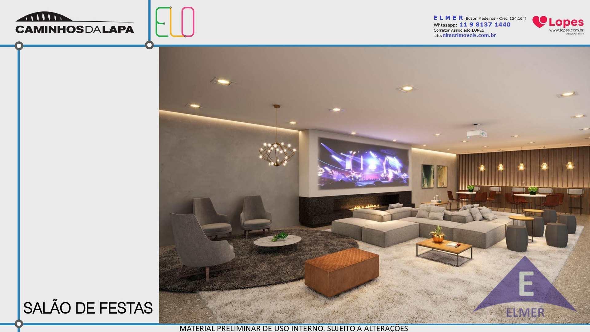 ELO CAMINHOS DA  LAPA - APTO 55 m² - 2 DORM - 1 VAGA, Cod: 313