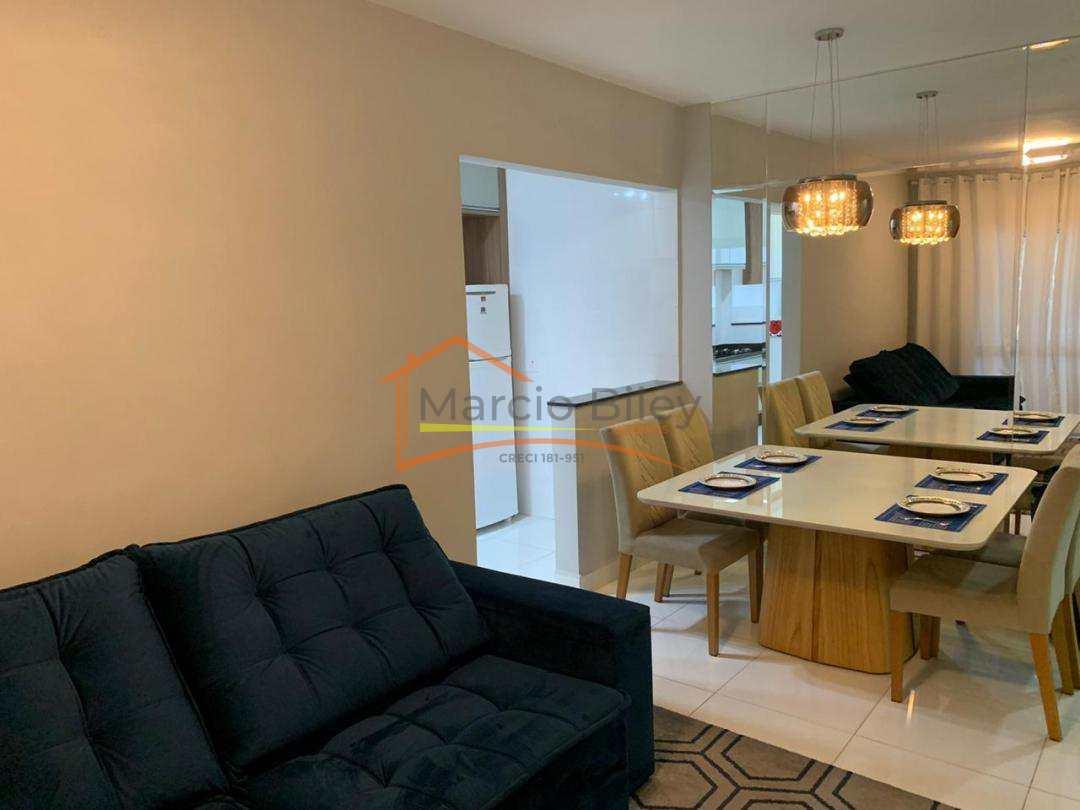 Apartamento dois quartos sendo duas suítes, todo mobiliado.