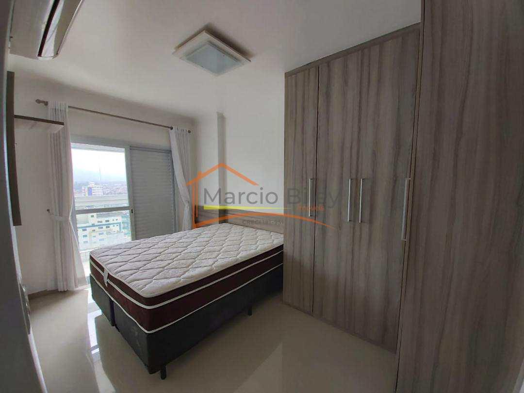 Apartamento 2 dormitório mobiliado prédio frente mar alto padrão 450 mil