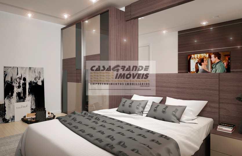 Apartamento com 1 dorm, Caiçara, Praia Grande - R$ 220 mil, Cod: 6118