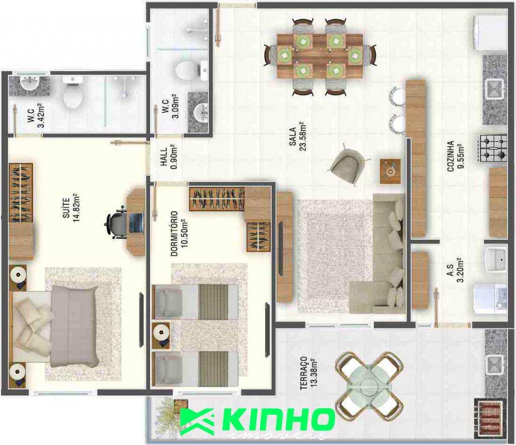 Apartamento com 2 dorms, Caiçara, Praia Grande - R$ 400 mil, Cod: AP570