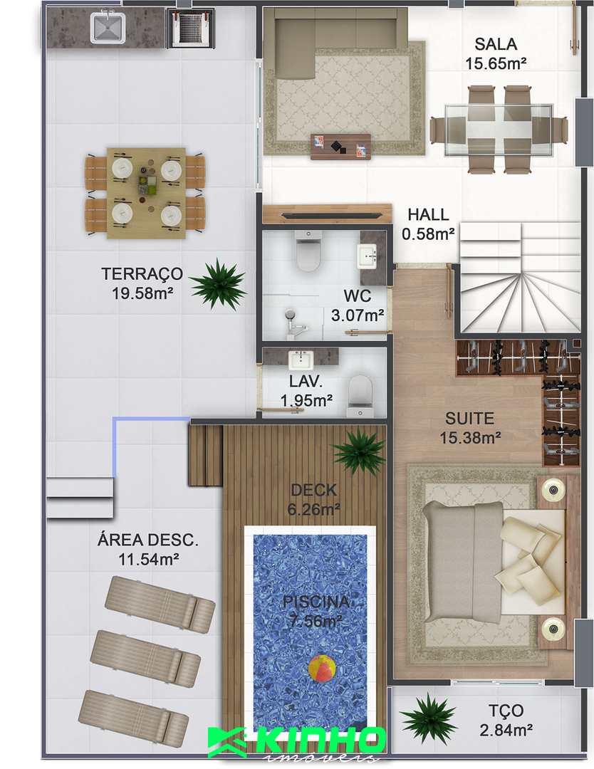 Cobertura com 3 dorms, Canto do Forte, Praia Grande - R$ 1.2 mi, Cod: CO12