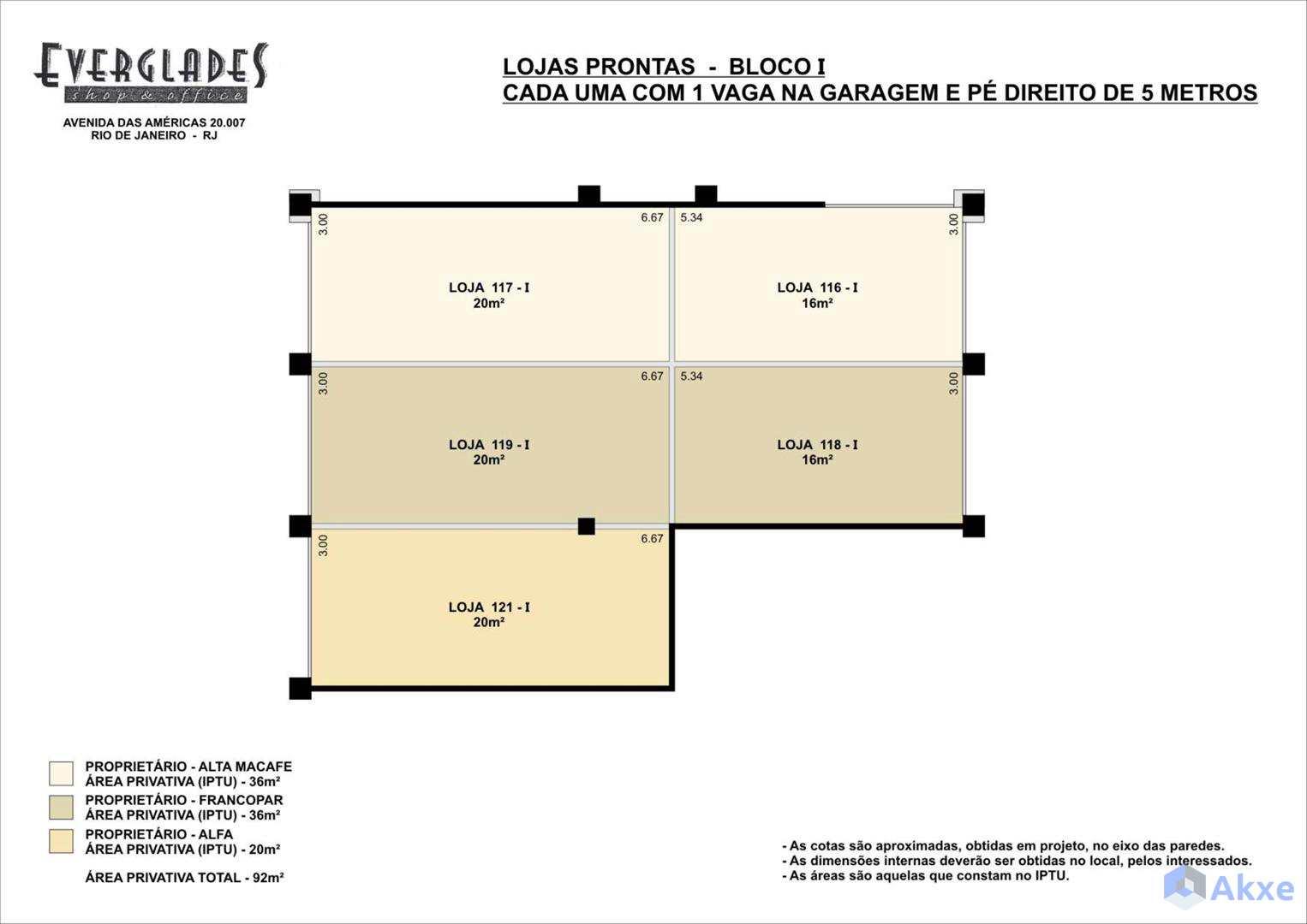 Planta Lojas Bl 1