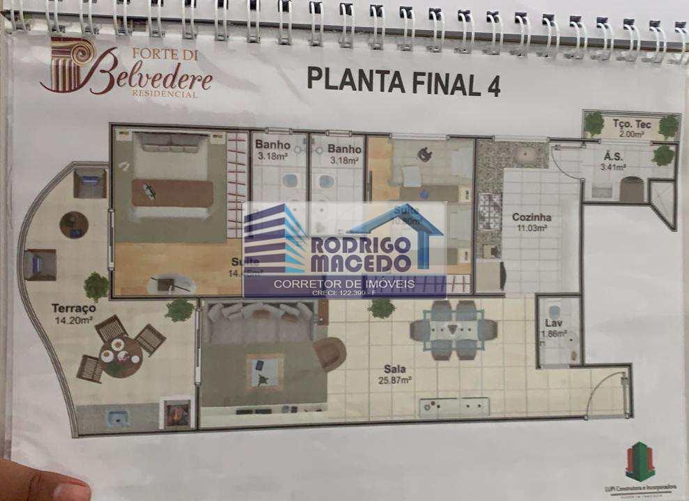 Apartamento com 2 dorms, Canto do Forte, Praia Grande - R$ 850 mil, Cod: 1801