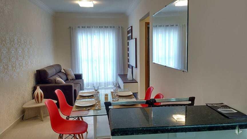Apartamento, 2 dorms, 1 vaga, Vl. Caiçara, Praia Grande, SP