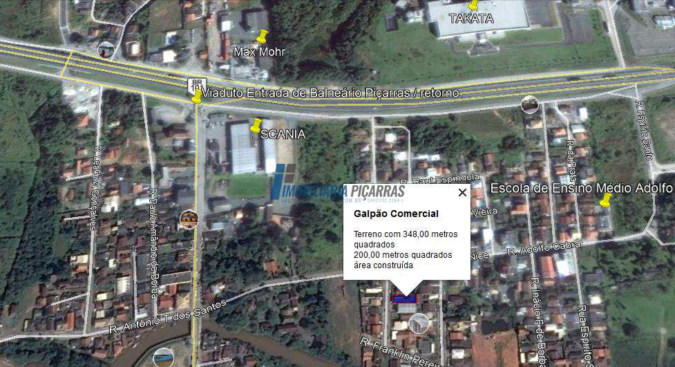 Armazém/Barracão c/ 277m2 em Balneário Piçarras