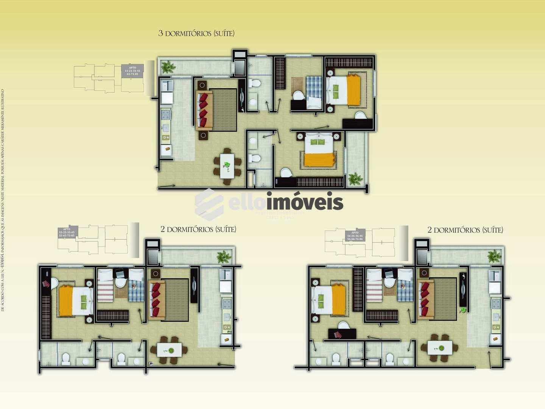 Apartamento com 1 dorm, Centro, Caçador - R$ 444 mil, Cod: 126