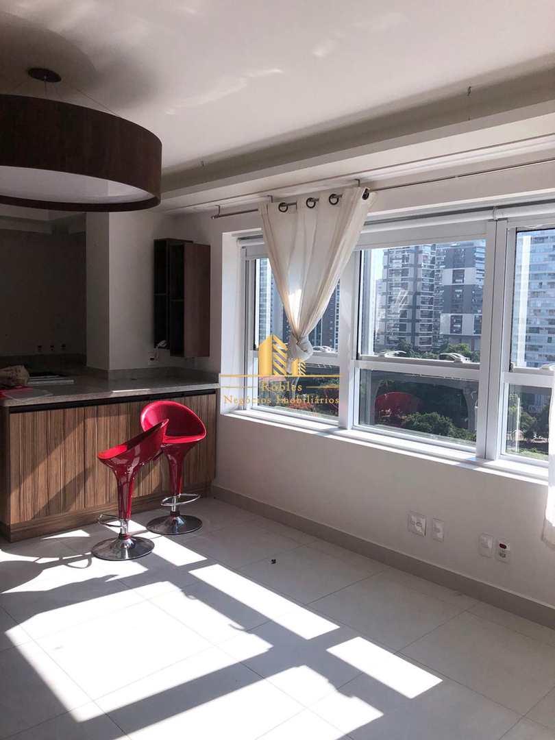Apartamento com 1 dorm, Brooklin Novo, São Paulo - R$ 600 mil, Cod: 361