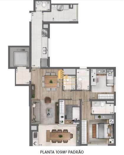 Apartamento com 3 dorms, Perdizes, São Paulo - R$ 1.37 mi, Cod: 549
