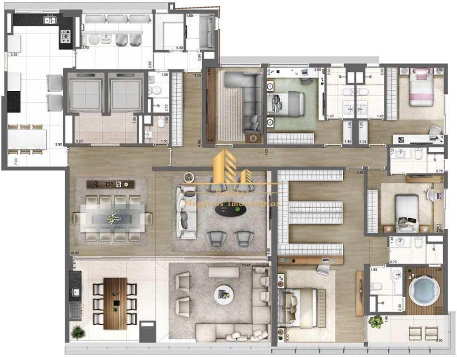 Apartamento com 4 dorms, Vila Olímpia, São Paulo - R$ 9.95 mi, Cod: 1049