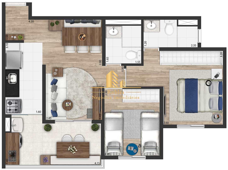 Apartamento com 2 dorms, Vila Clementino, São Paulo - R$ 562 mil, Cod: 1074