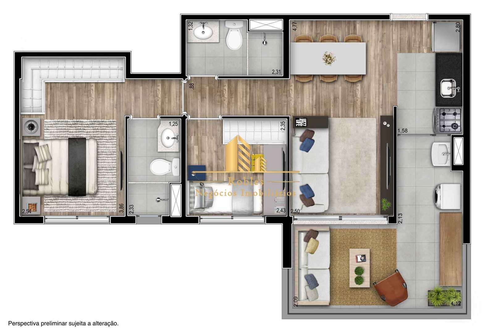 Apartamento com 2 dorms, Pinheiros, São Paulo - R$ 752 mil, Cod: 1079