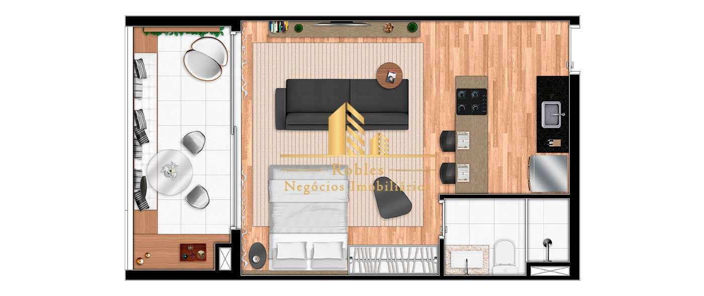 Apartamento com 1 dorm, Campo Belo, São Paulo - R$ 510 mil, Cod: 1174