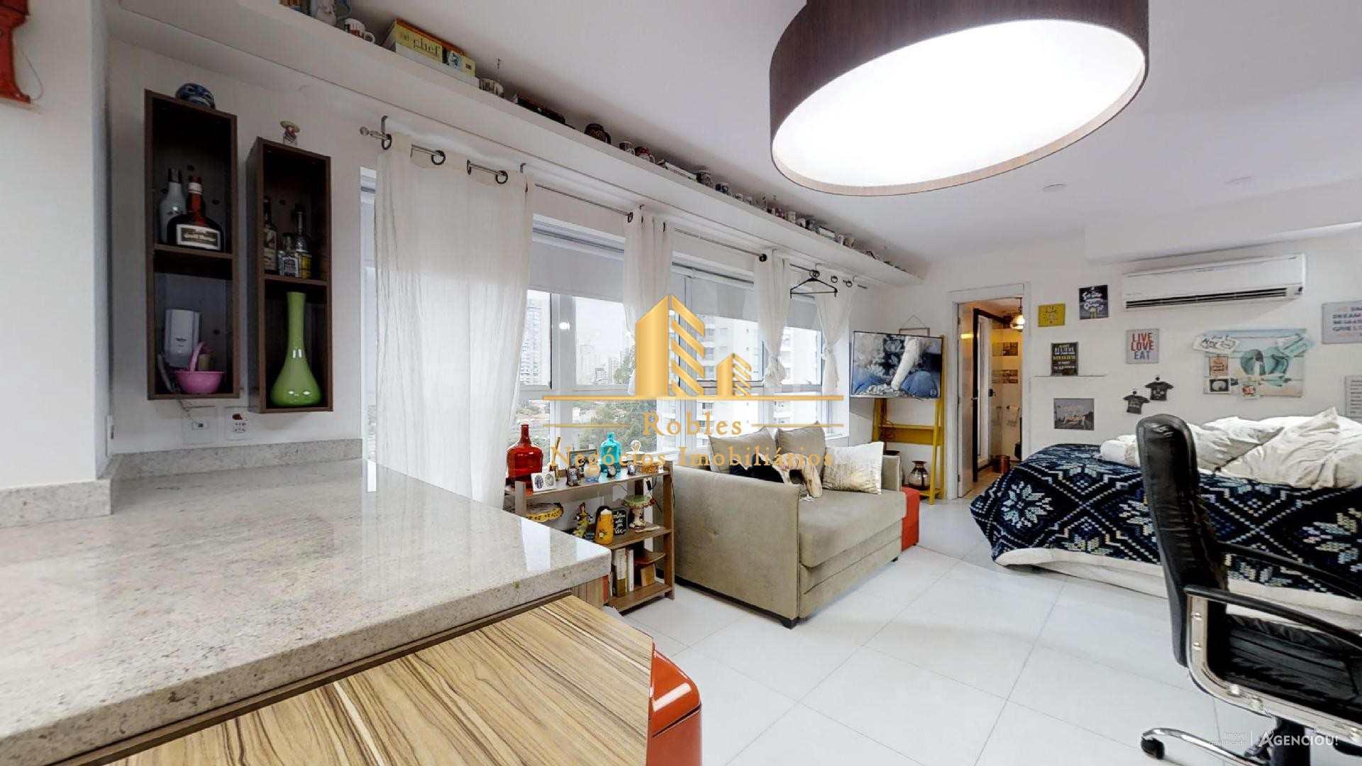 Apartamento com 1 dorm, Brooklin Novo, São Paulo - R$ 600 mil, Cod: 1602
