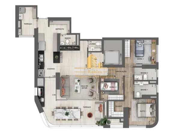 Apartamento com 3 dorms, Chácara Santo Antônio (Zona Sul), São Paulo - R$ 2.97 mi, Cod: 1650