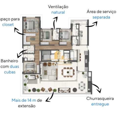 Apartamento com 4 dorms, Campo Belo, São Paulo - R$ 3.09 mi, Cod: 1662