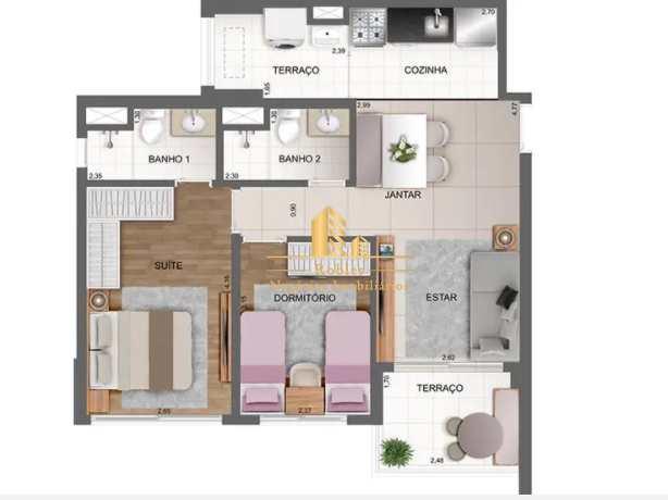 Apartamento com 2 dorms, Chácara Santo Antônio (Zona Sul), São Paulo - R$ 783 mil, Cod: 1680