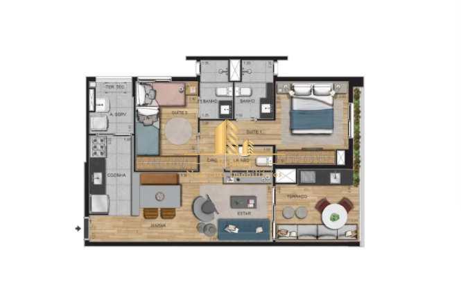 Apartamento com 2 dorms, Moema, São Paulo - R$ 1.18 mi, Cod: 1699