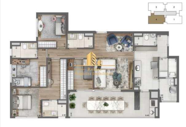 Apartamento com 3 dorms, Santo Amaro, São Paulo - R$ 1 mi, Cod: 1712