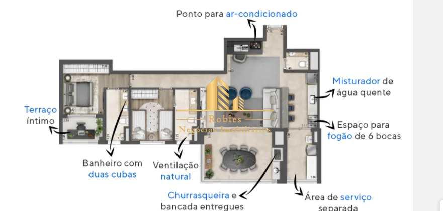 Apartamento com 3 dorms, Brooklin, São Paulo - R$ 1.79 mi, Cod: 1742