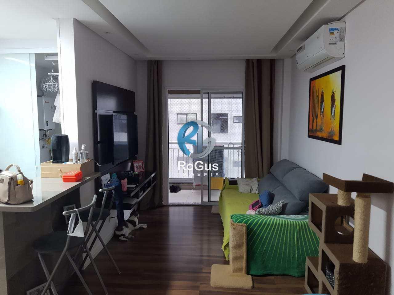 Apartamento com 3 dorms, Estuário, Santos - R$ 490 mil, Cod: 763