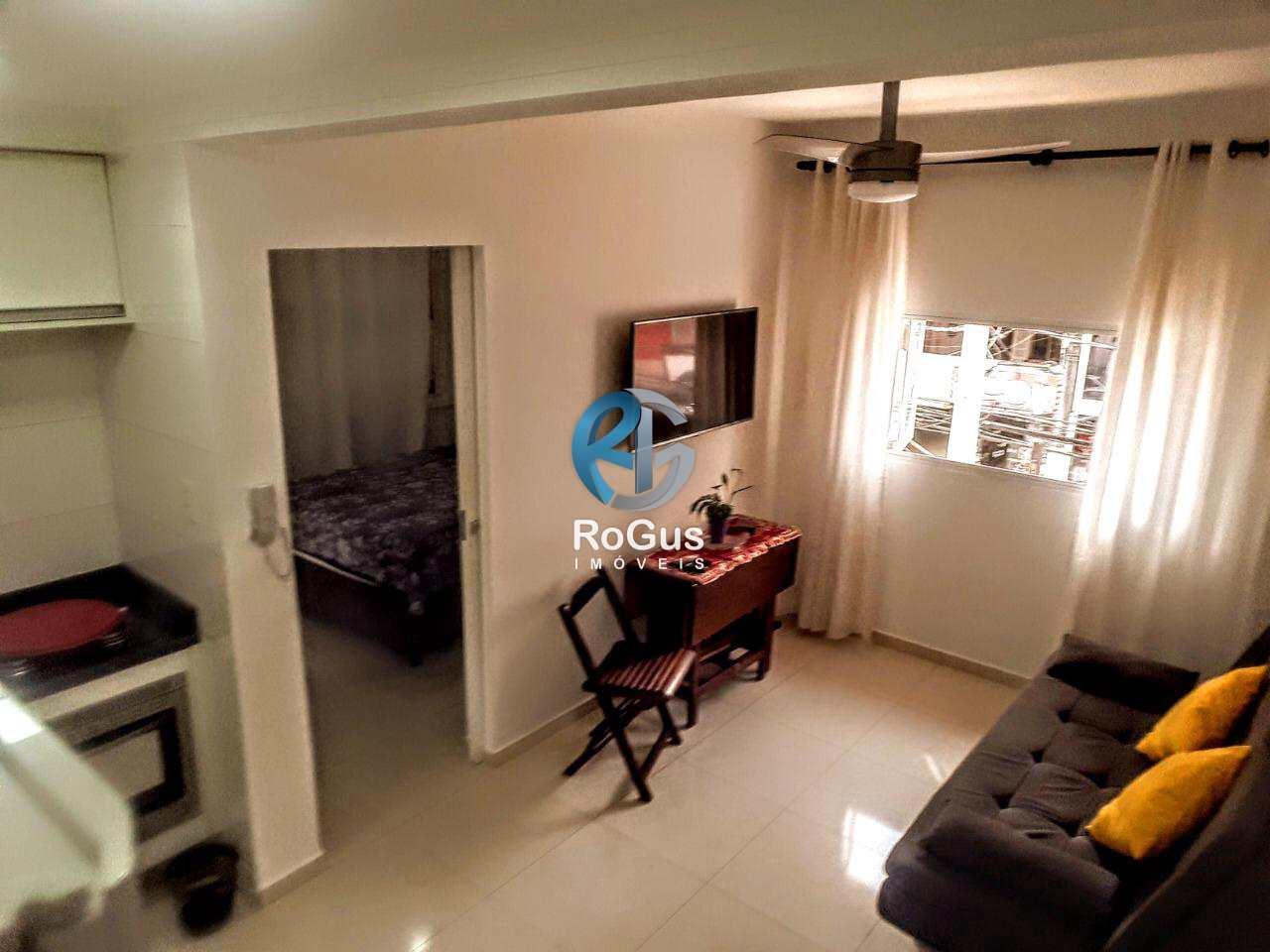 Locação 1 dorm, mobiliado no Gonzaga, Santos, Cod: 799