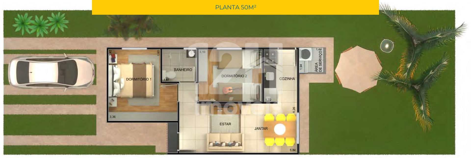 Casa com 3 dorms, Vale do Sol, Piracicaba - R$ 210 mil, Cod: 2