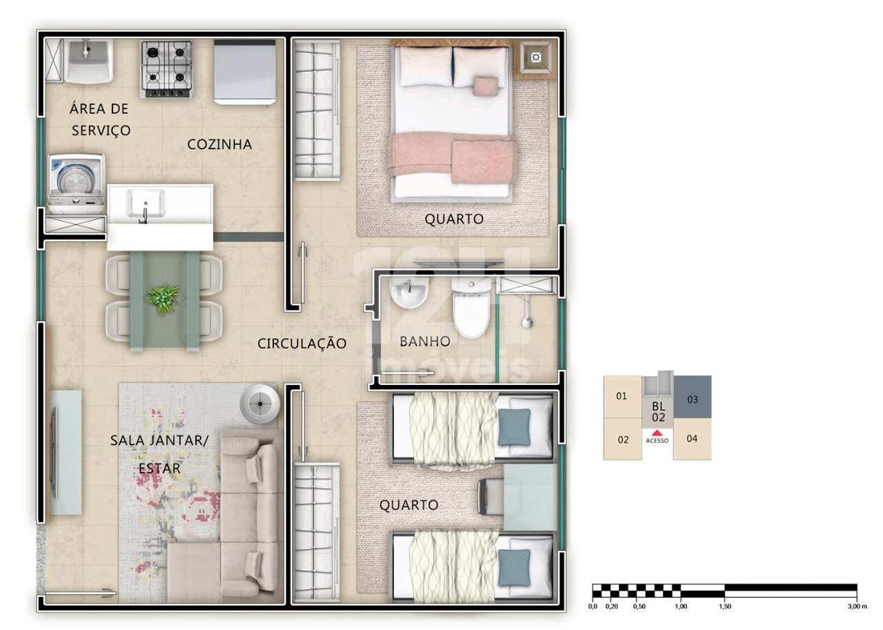 Apartamento com 2 dorms, Piracicamirim, Piracicaba - R$ 149 mil, Cod: 7