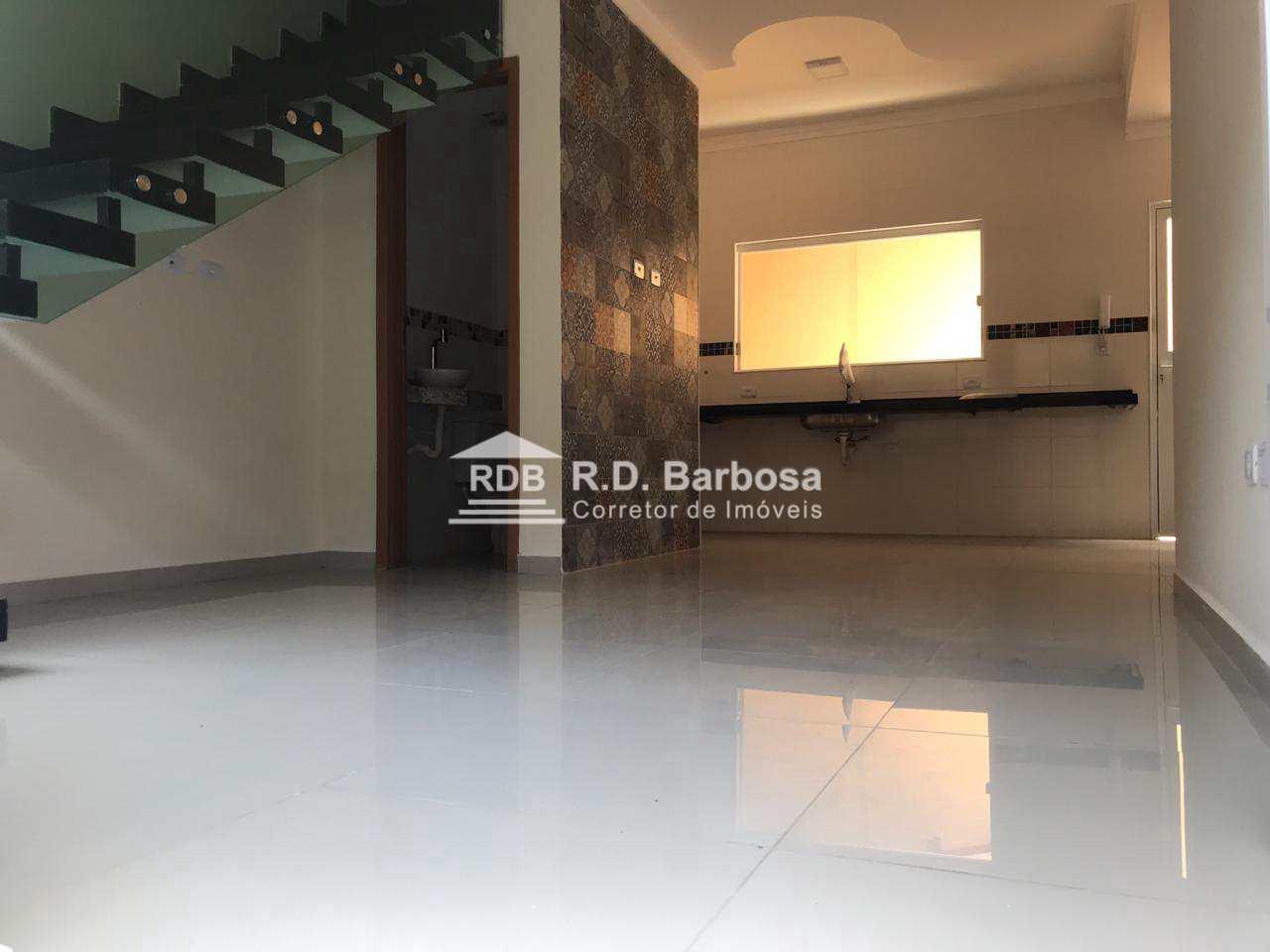 Sobrado de Condomínio com 3 dorms, Maracanã, Praia Grande - R$ 259 mil, Cod: 3