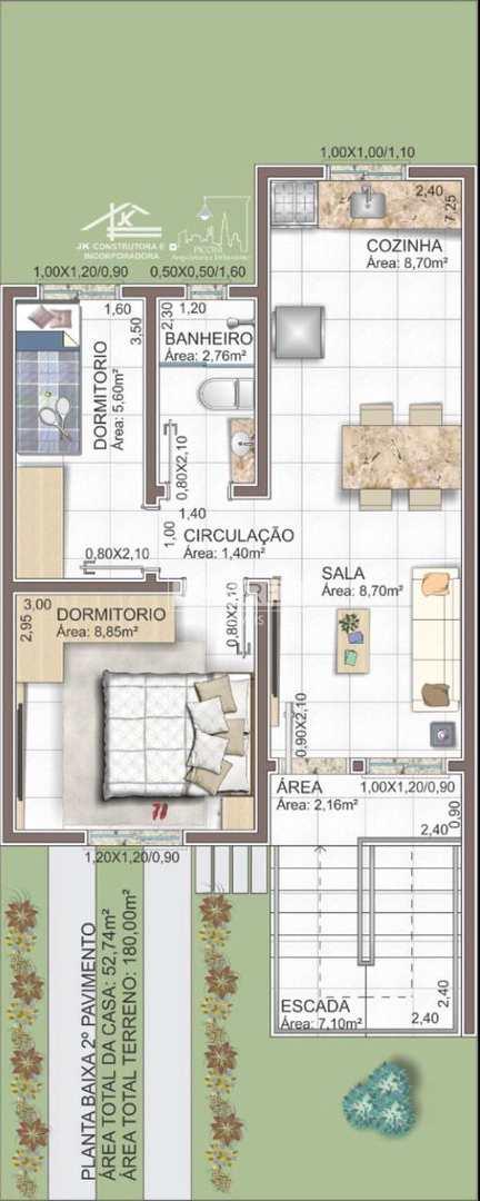 Casa Bairro São Luiz Gonzaga 2 Dormitórios Sob Pilotis
