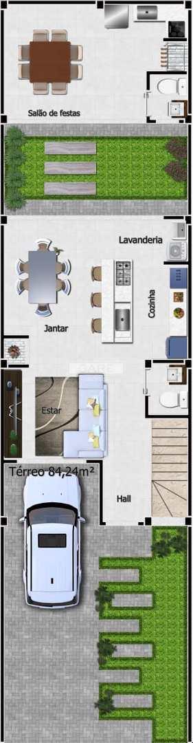 Sobrado com 3 dormitórios Vila Rodrigues