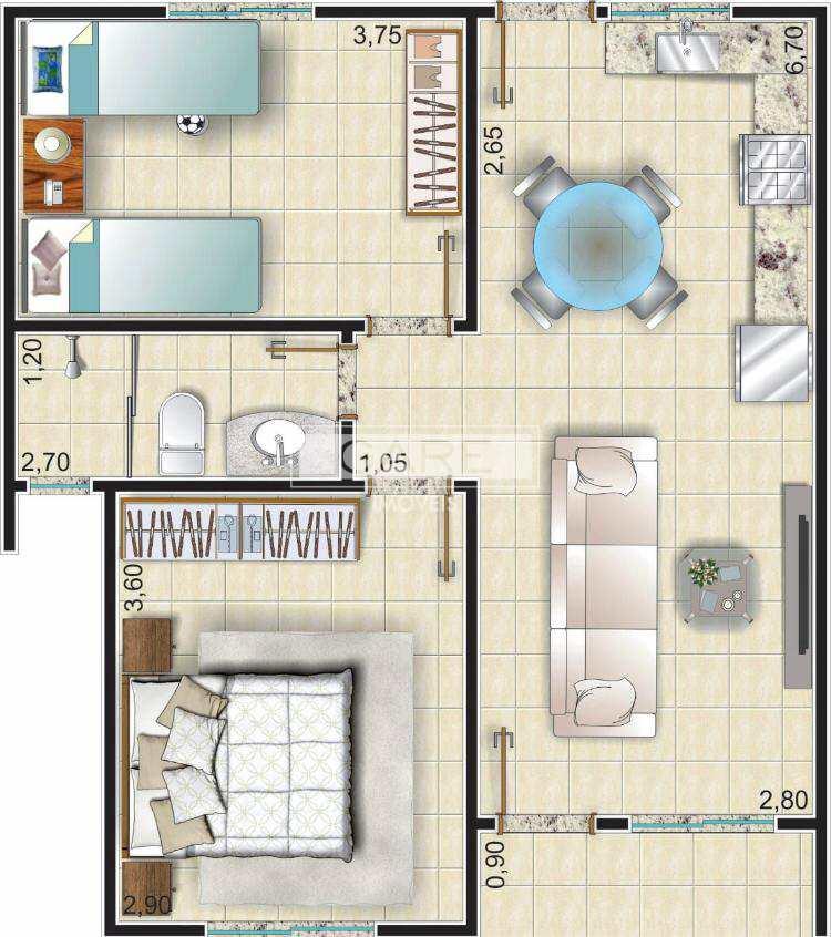 Casa de Condomínio com 2 dormitórios, Valinhos, Passo Fundo