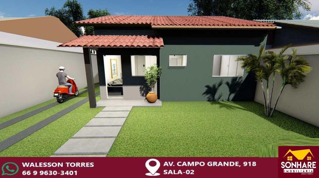 Casa com 2 dorms, Três Américas, Primavera do Leste - R$ 145 mil, Cod: 203