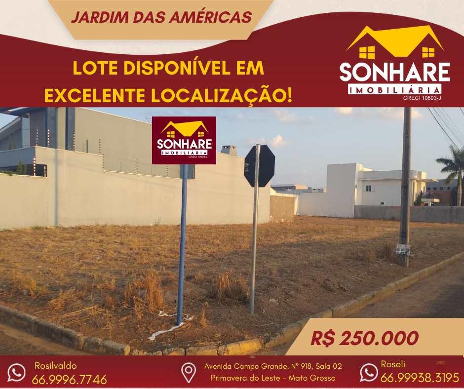 Terreno, Jardim das Américas, Primavera do Leste - R$ 250 mil, Cod: 261